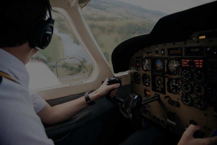 Sky Dance pilot flying a Piper Saratoga