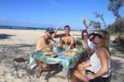 Stradbroke Island Adventure - bbq on the beach